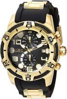 Invicta 24218 Men's Bolt Dial Yellow Gold Steel & Silicone Strap Chronograph Watch