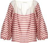 Mes Demoiselles Matthew striped cotton-gauze blouse