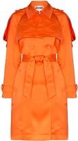Moschino embellished-epaulette trench coat