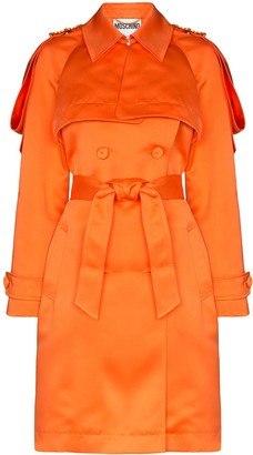 Moschino Embellished-Epaulette Trench Coat
