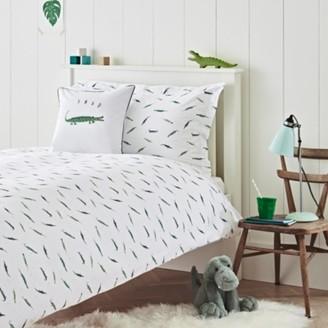 The White Company Cedric The Croc Bed Linen Set, Multi, Cot Bed