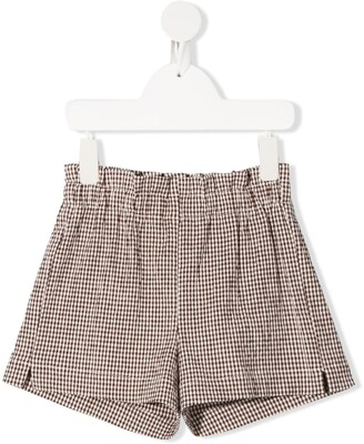Il Gufo Checked Straight-Leg Shorts
