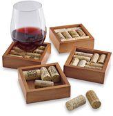 Wine Enthusiast Wine Cork Coasters Kit (Set of 4)