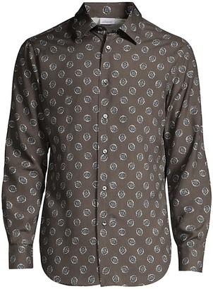 Brioni Medallion-Print Silk Shirt