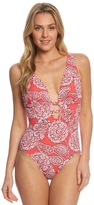 Penbrooke Lady Lace Plunge One Piece Swimsuit 8150411