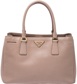 Prada Nude Saffiano Lux Leather Small Galleria Tote