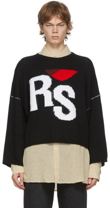 Raf Simons Black Oversized RS Sweater