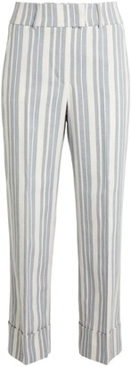Peserico Cropped Stripe Trousers