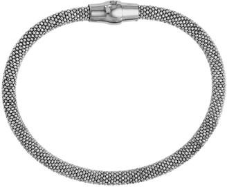 Italian Silver Popcorn Link Magnetic Bracelet,10.8g