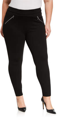 Nanette Lepore Nanette Plus Size Leggings with Pocket & Zippers