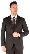Karl Jackson Plain Black Twill 2 Button Suit Jacket