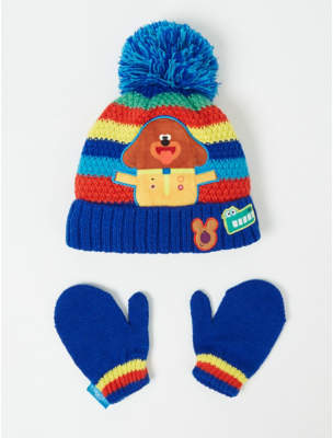 Bobble George Hey Duggee Hat and Mittens Set