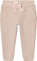 GUESS Pink Glitter Bow Sweatpants