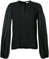 Elizabeth and James sheer sleeve blouse