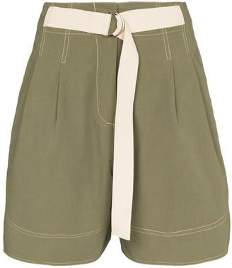 Lee Mathews Birder high-waist shorts