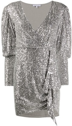 Patrizia Pepe All-Over Sequined Mini Dress