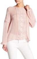 Romeo & Juliet Couture Eyelet Embroidered Blouse