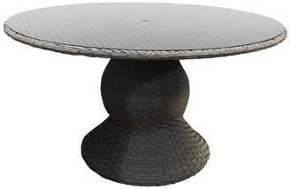 TK Classics Oasis 60 Inch Outdoor Patio Dining Table