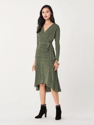Diane von Furstenberg Rilynn Mesh Faux-Wrap Dress