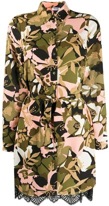 Liu Jo Floral Camouflage Belted Shirt Dress