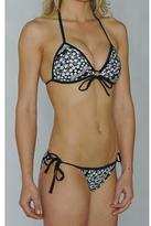 Island World Junior's Black & White Lace Bikini