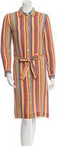 Cacharel Striped Silk Dress