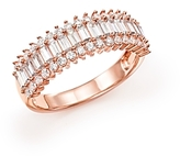 Bloomingdale's Diamond Round and Baguette Band in 14K Rose Gold, 1.50 ct. t.w. - 100% Exclusive