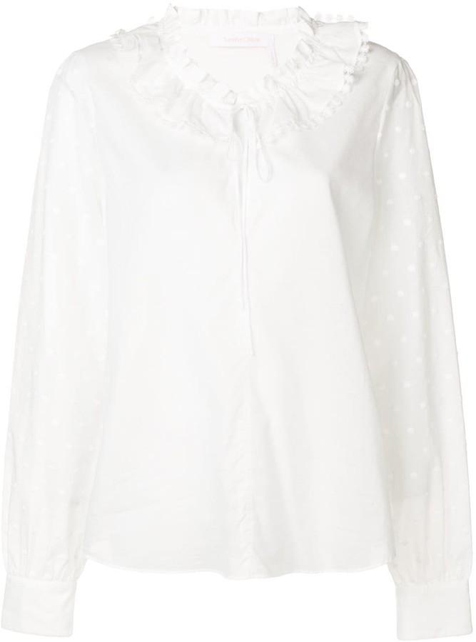 See by Chloe drawstring blouse