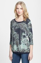 Maison Scotch Metallic Jungle Pattern Sweater
