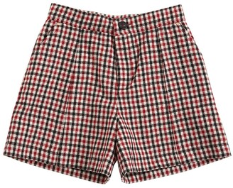 Chloé Check Wool Blend Shorts
