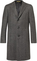Canali - Kei Slim-fit Unstructured Herringbone Wool Coat