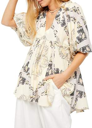 Free People Girl Talk Printed Tunic