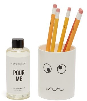 Anya Hindmarch Anya Smells Pencil Shavings Scented Diffuser - White Multi