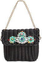 Betsey Johnson Basket Case Chain Strap Small Shoulder Bag