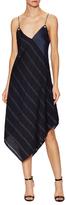 Prabal Gurung Wool Striped Asymmetrical Slip Dress