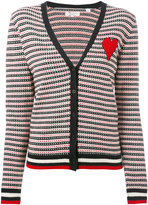 Chinti and Parker cashmere jacquard heart cardigan