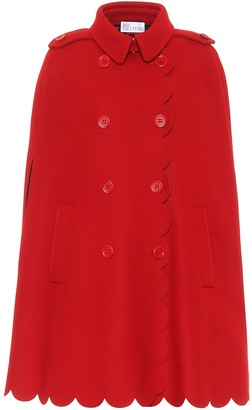 RED Valentino wool-blend cape