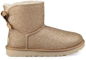UGG Mini Bailey Bow Sparkle Gold Boot
