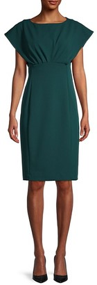 Calvin Klein Extended-Shoulder Sheath Dress