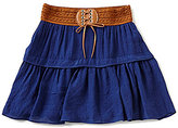 I.N. Girl Big Girls 7-16 Tie-Waist Tiered Skirt