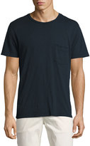 7 For All Mankind Raw-Pocket Crewneck T-Shirt, Navy