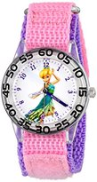 Disney Kids' W001186 Tinker Bell Plastic Watch with Pink and Purple Strap