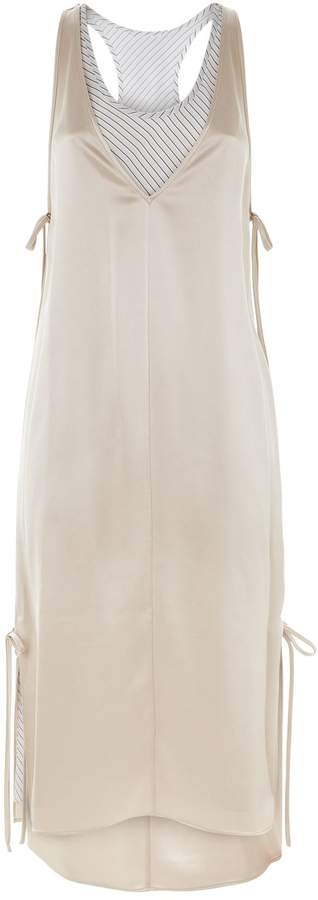 Alexander Wang Bi-Layer Satin Midi Dress
