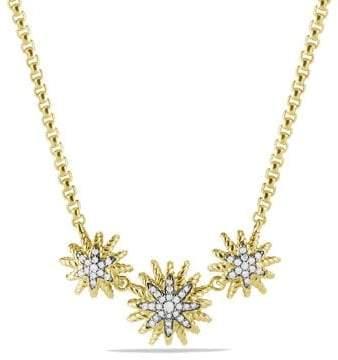 David Yurman Starburst Necklace With Diamonds In 18K Gold