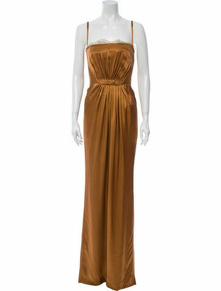 Dolce & Gabbana Square Neckline Long Dress w/ Tags Brown