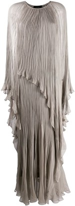 Irina Schrotter Crinkled Cape-Effect Gown