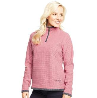 Weird Fish Womens Beyonce 1/4 Zip Grid Fleece Malaga