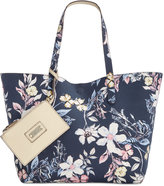 Style&Co. Style & Co Clean Cut Canvas Reversible Tote with Wristlet, Only at Macy's