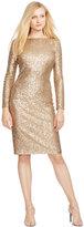 Lauren Ralph Lauren Sequined Scoop-Back Dress