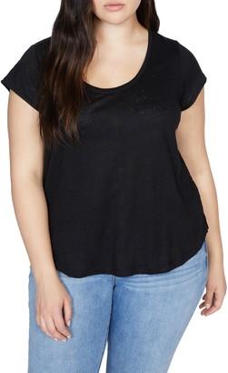 Sanctuary Alma Scoop Neck Linen T-Shirt